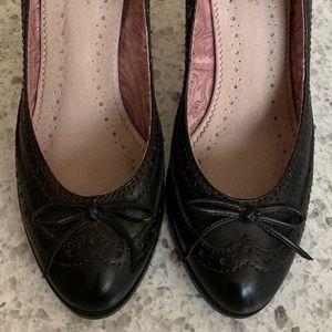 Black Seychelles Loafer-front Heels